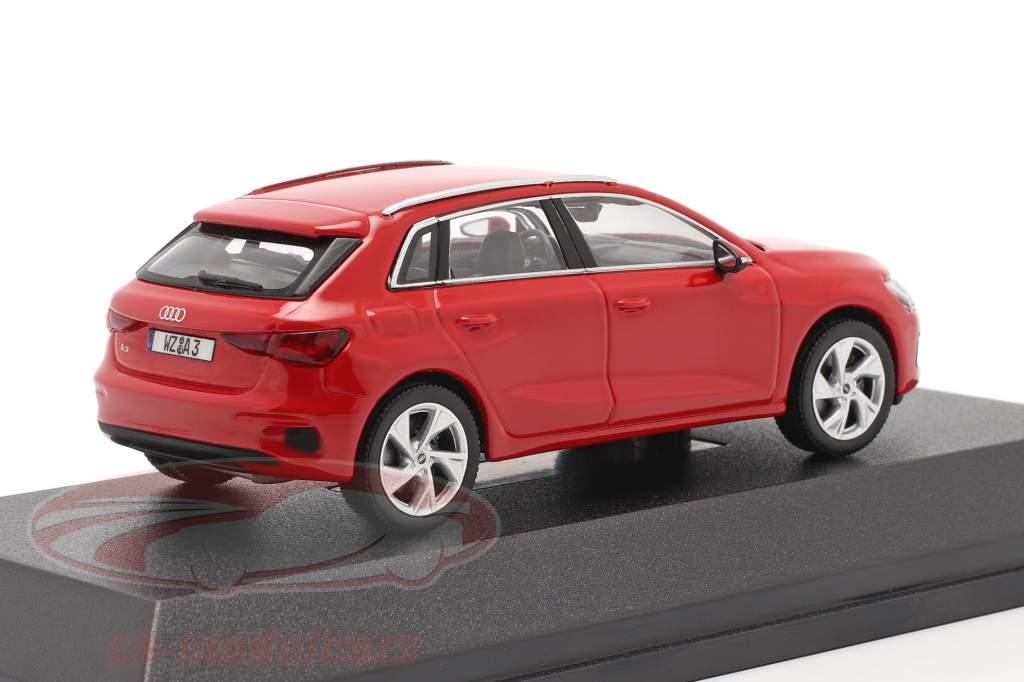 Audi A3 Sportback Année de construction 2020 tango rouge 1:43 iScale