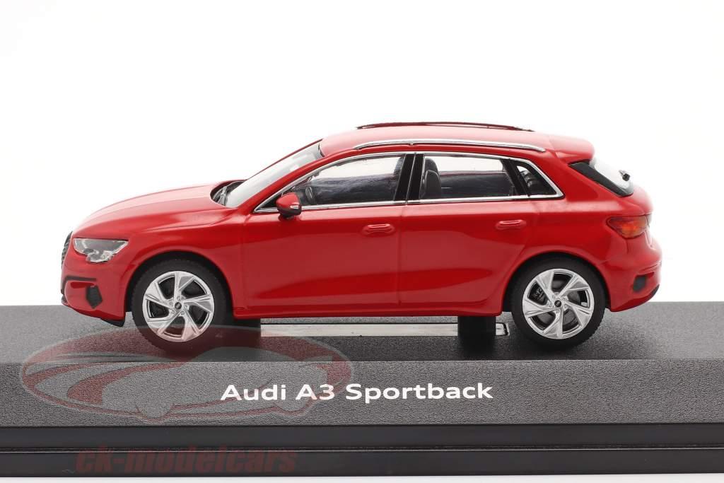 Audi A3 Sportback Año de construcción 2020 tango rojo 1:43 iScale