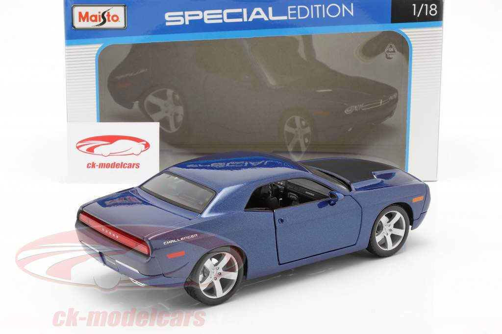 Dodge Challenger Concept Car 2006 blå metallisk 1:18 Maisto