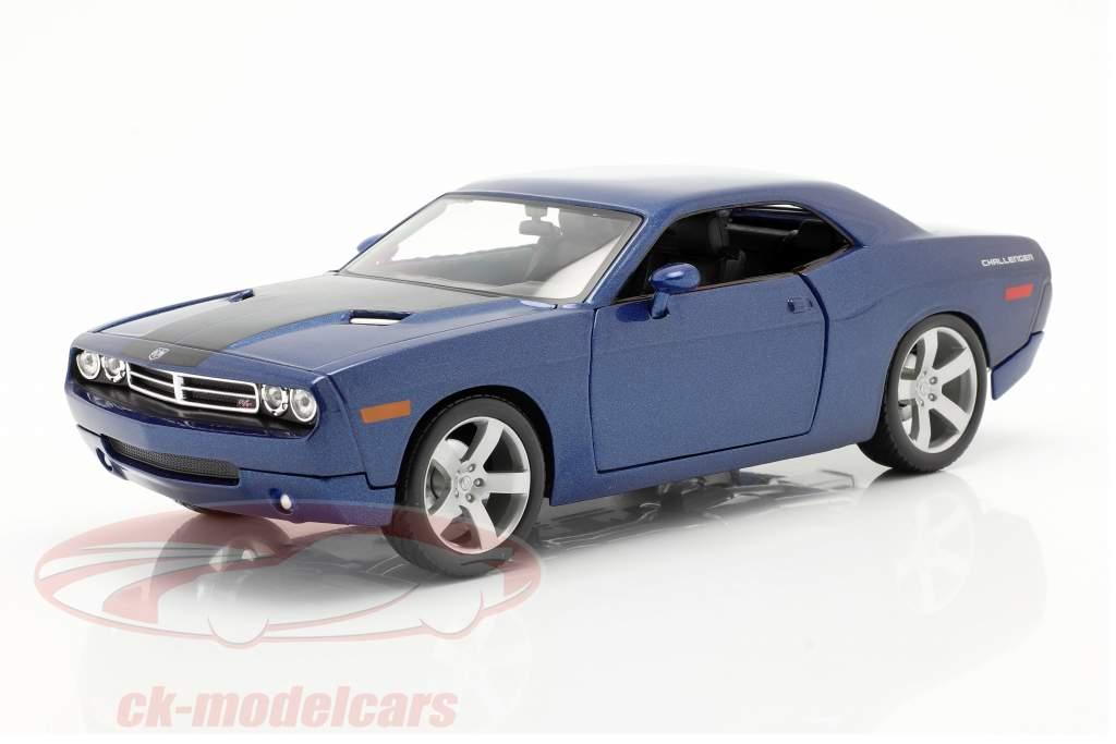 Dodge Challenger Concept Car 2006 azul metálico 1:18 Maisto