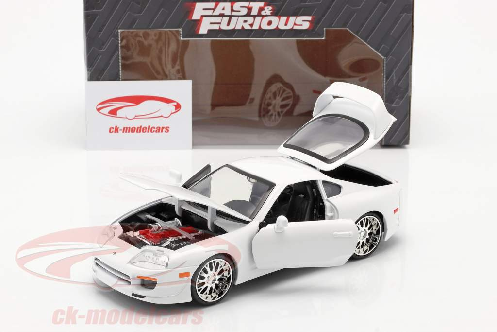 Brian´s Toyota Supra van de film Fast and Furious 7 2015 wit 1:24 Jada Toys