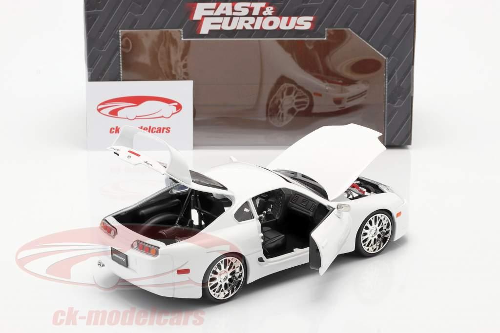 Brian´s Toyota Supra de la película Fast and Furious 7 2015 blanco 1:24 Jada Toys