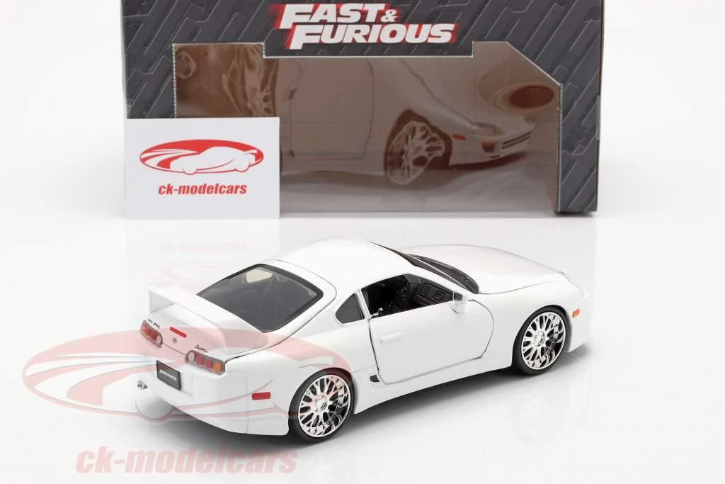 Brian´s Toyota Supra à partir de la film Fast and Furious 7 2015 blanc 1:24 Jada Toys