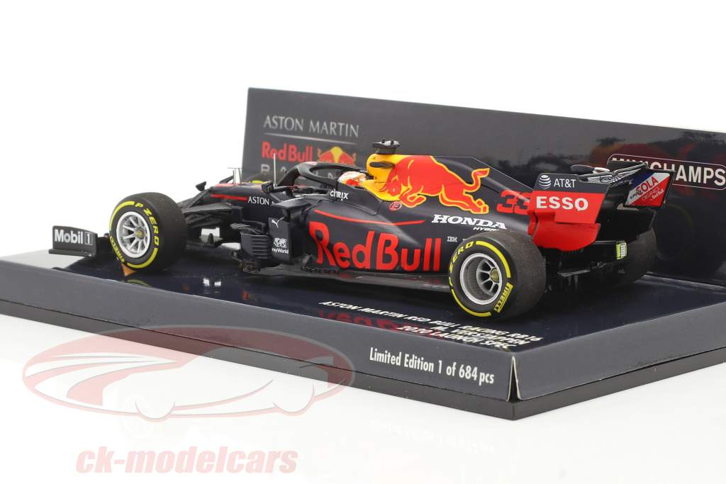 M. Verstappen Red Bull Racing RB16 #33 Launch Spec fórmula 1 2020 1:43 Minichamps
