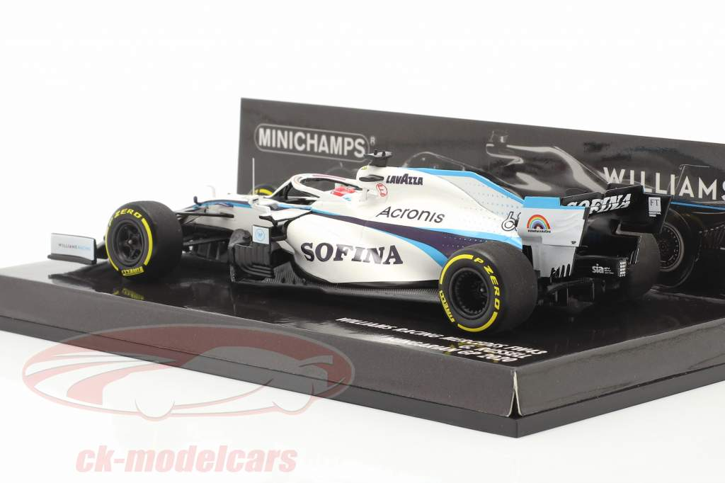 George Russell Williams FW43 #63 Hungarian GP formula 1 2020 1:43 Minichamps