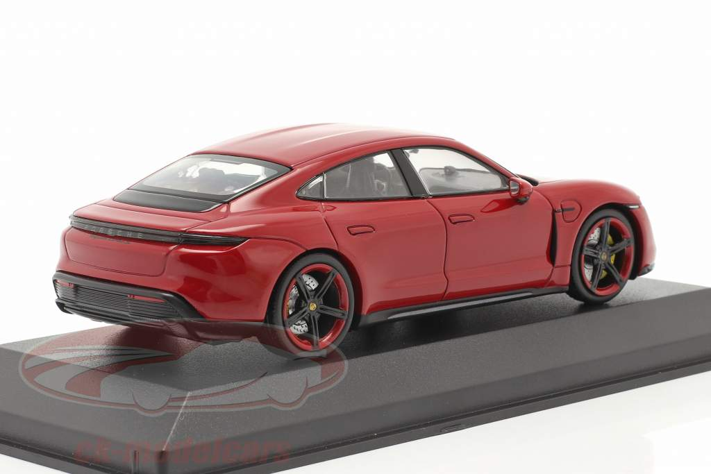 Porsche Taycan Turbo S Byggeår 2020 karmin rød 1:43 Minichamps