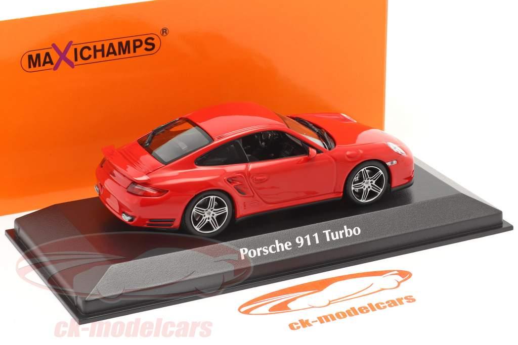Porsche 911 (997) Turbo Bouwjaar 2006 rood 1:43 Minichamps