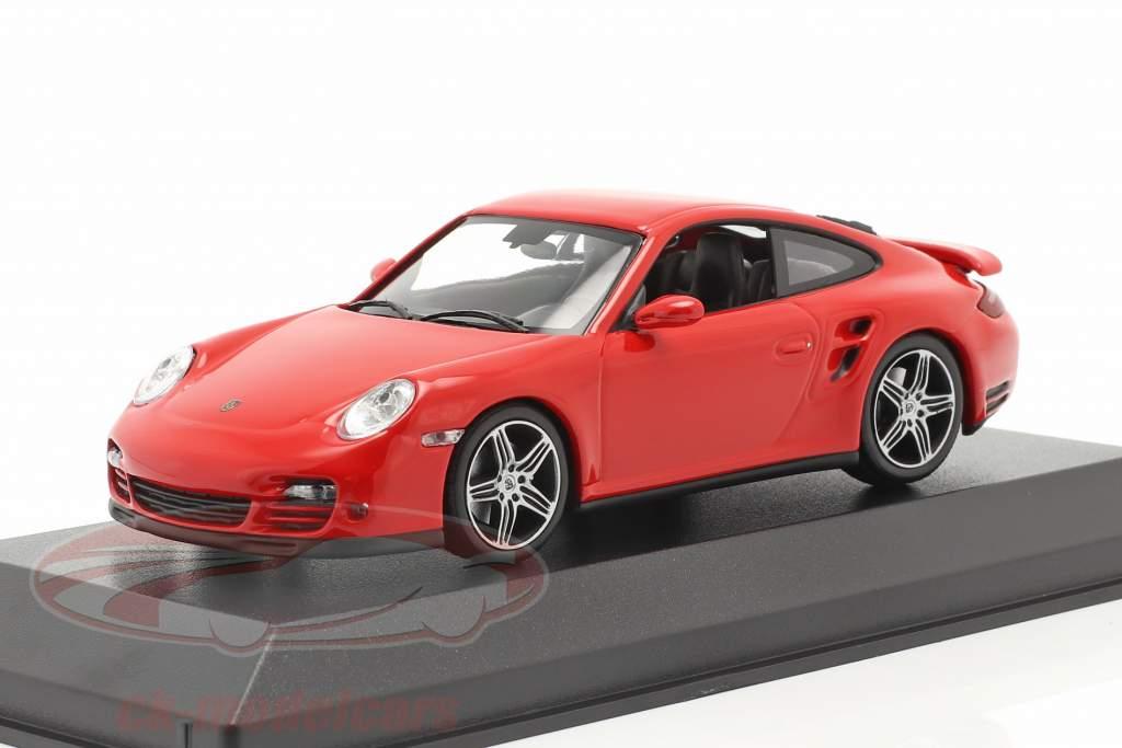 Porsche 911 (997) Turbo Byggeår 2006 rød 1:43 Minichamps