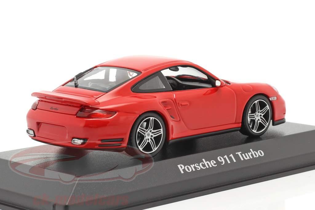Porsche 911 (997) Turbo Anno di costruzione 2006 rosso 1:43 Minichamps