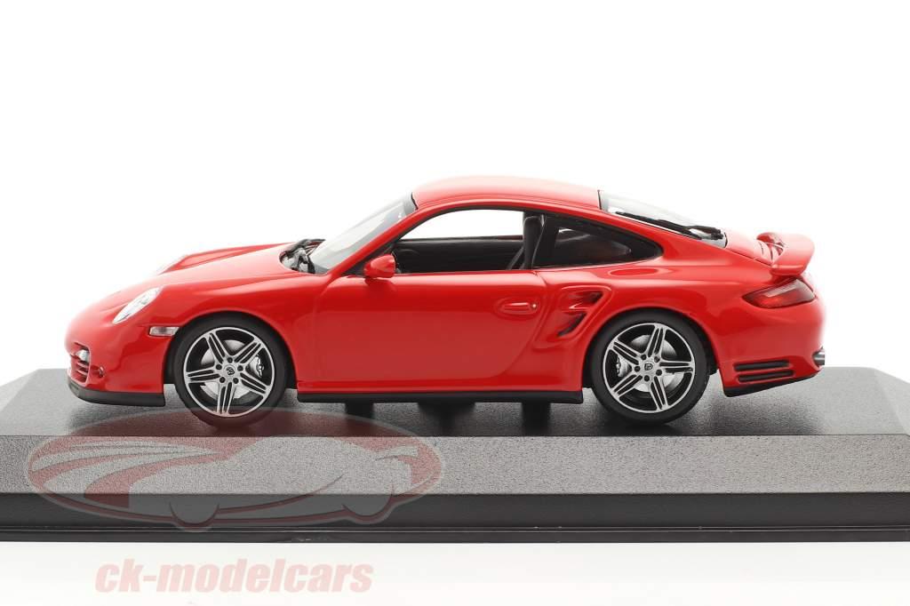 Porsche 911 (997) Turbo Baujahr 2006 rot 1:43 Minichamps
