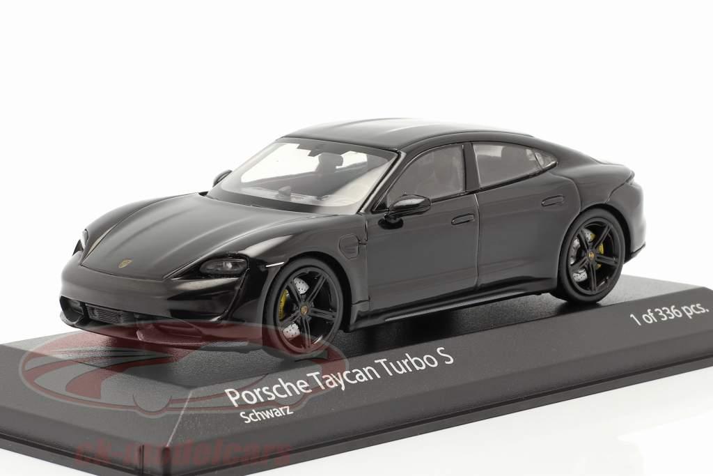 Porsche Taycan Turbo S Baujahr 2020 schwarz 1:43 Minichamps