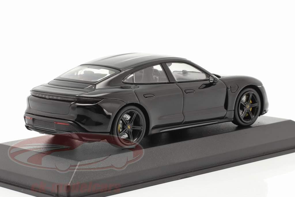 Porsche Taycan Turbo S Année de construction 2020 noir 1:43 Minichamps