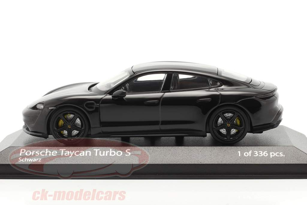 Porsche Taycan Turbo S Byggeår 2020 sort 1:43 Minichamps