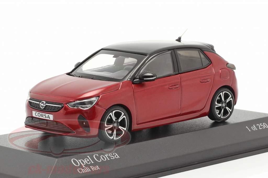 Opel Corsa E Anno di costruzione 2019 rosso metallico 1:43 Minichamps
