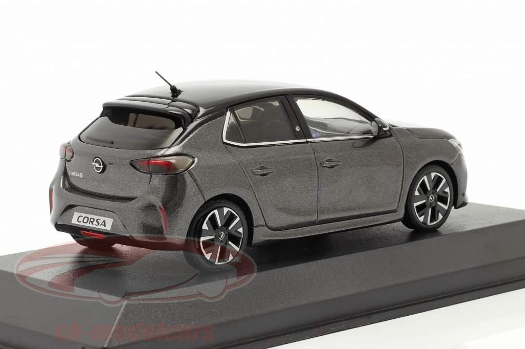 Opel Corsa E Bouwjaar 2019 maansteen Grijs metalen 1:43 Minichamps
