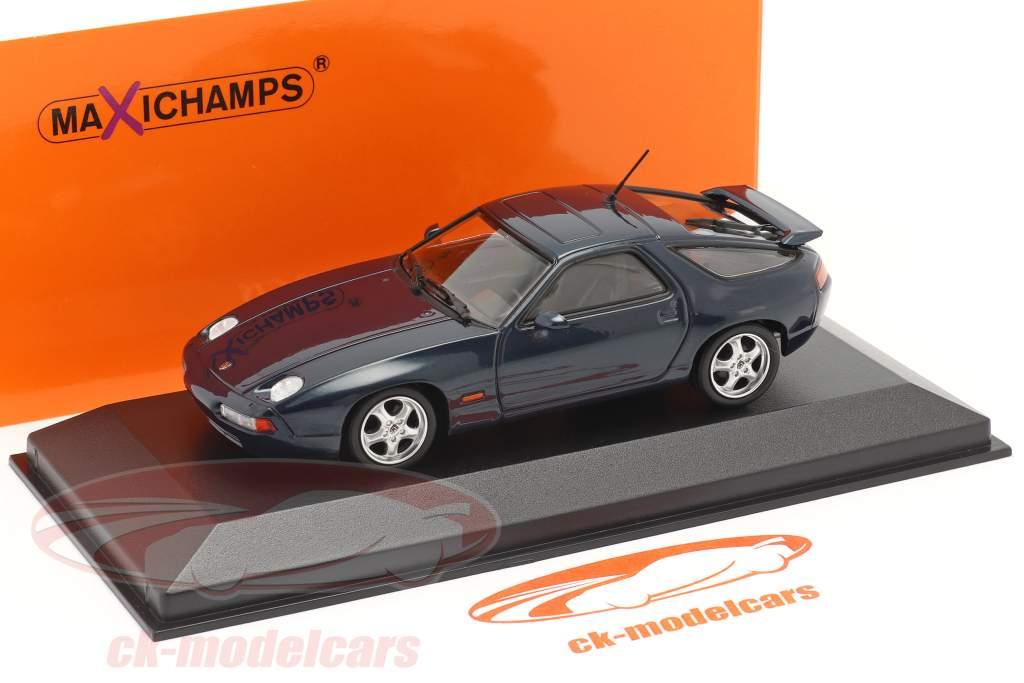 Porsche 928 GTS Año de construcción 1991 azul verde metálico 1:43 Minichamps
