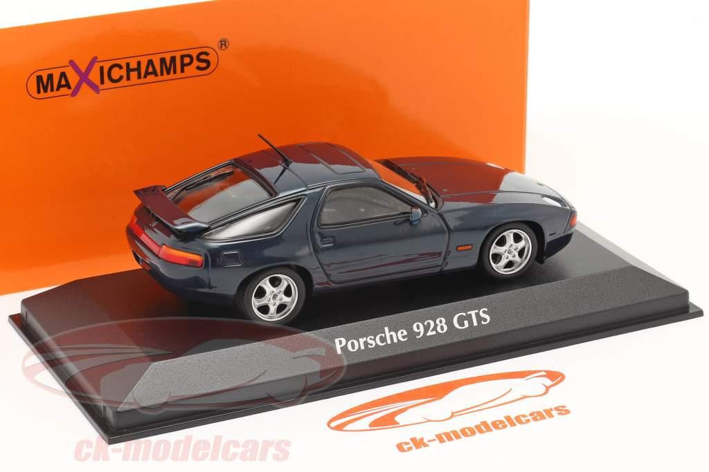 Porsche 928 GTS Année de construction 1991 bleu vert métallique 1:43 Minichamps