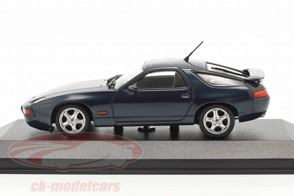 Porsche 928 GTS year 1991 blue green metallic 1:43 Minichamps