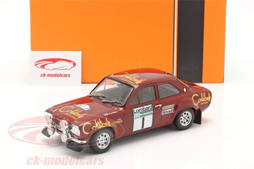 Ford Escort Mk1 RS 1600 #1 Gagnant Lombard RAC Rallye 1974 Mäkinen, Liddon 1:18 Ixo