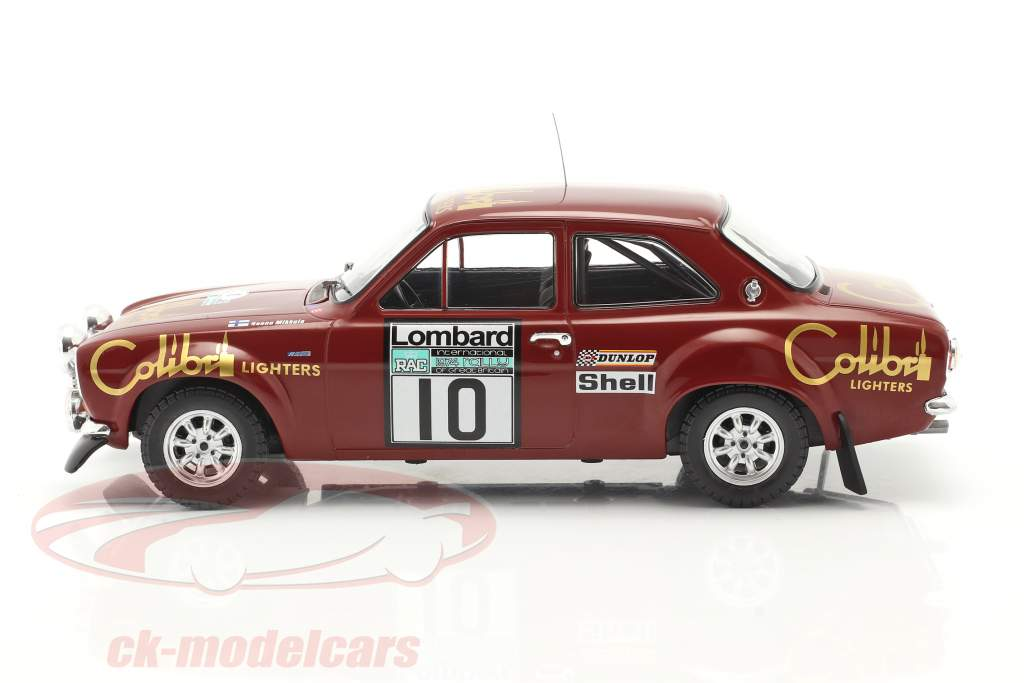 Ford Escort Mk1 RS 1600 #10 Lombard RAC Rallye 1974 Mikkola, Davenport 1:18 Ixo