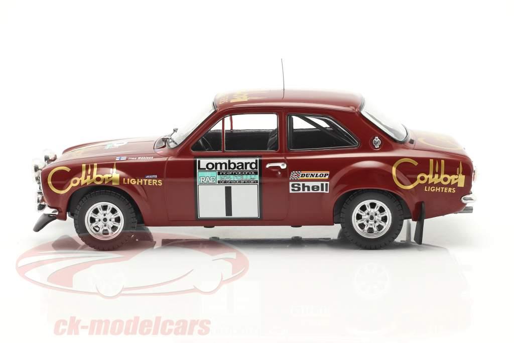 Ford Escort Mk1 RS 1600 #1 Winner Lombard RAC Rallye 1974 Mäkinen, Liddon 1:18 Ixo