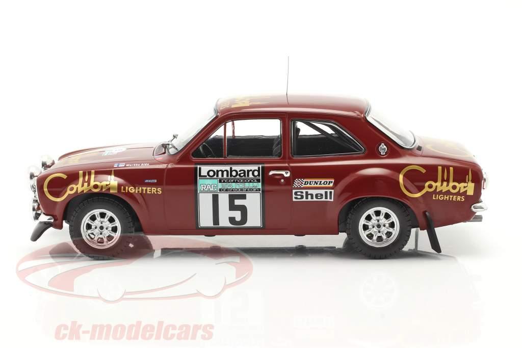 Ford Escort Mk1 RS 1600 #15 Lombard RAC Rallye 1974 Alen, White 1:18 Ixo