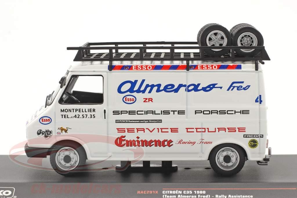 Citroen C35 camioneta 1980 Rallye Assistance Team Almeras Fres 1:43 Ixo