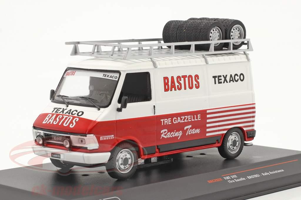 Fiat 242 furgão Rallye Assistance Tre Gazzelle Racing Team 1:43 Ixo