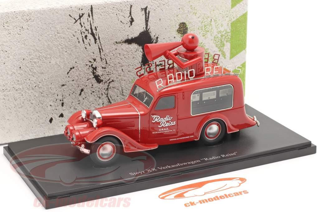 Steyr XX Carro de vendas Radio Reiss 1929 vermelho 1:43 AutoCult