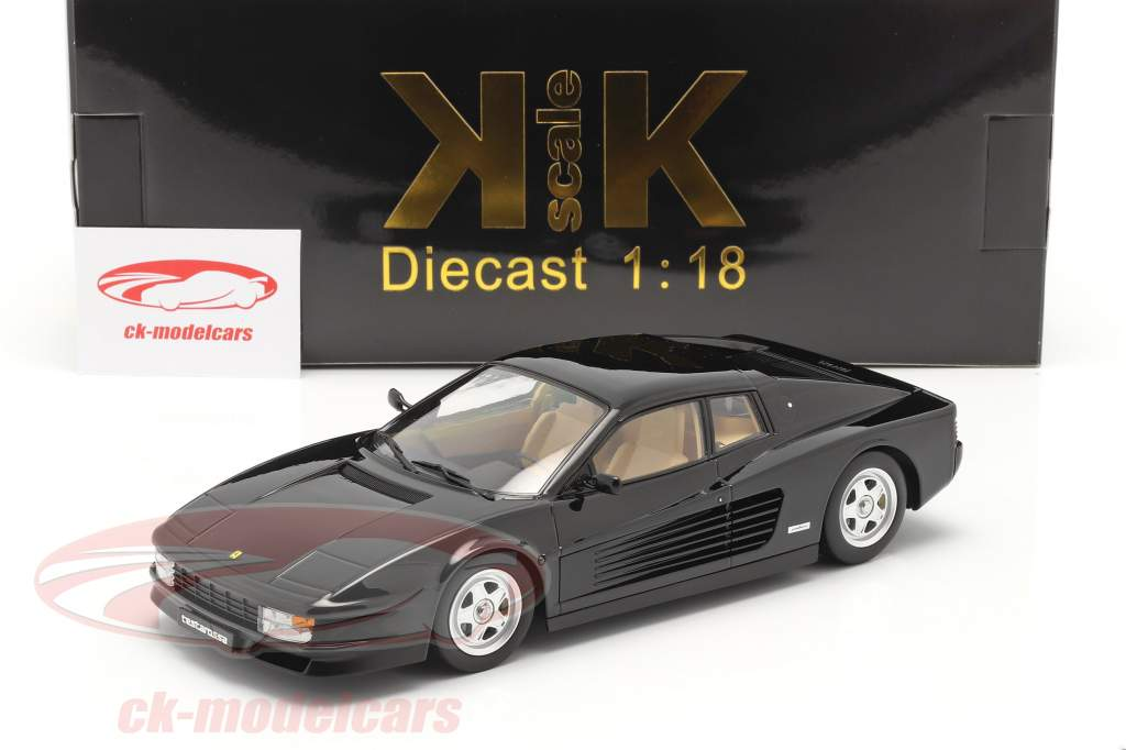 Ferrari Testarossa Année de construction 1986 noir 1:18 KK-Scale