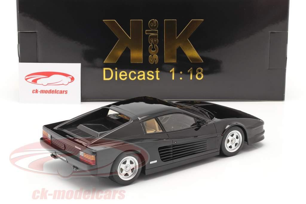 Ferrari Testarossa Bouwjaar 1986 zwart 1:18 KK-Scale