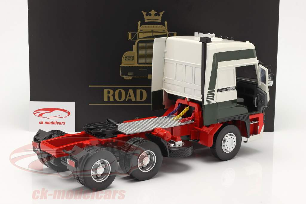 DAF 3600 SpaceCab Truck year 1986 dark green / white / red 1:18 Road Kings