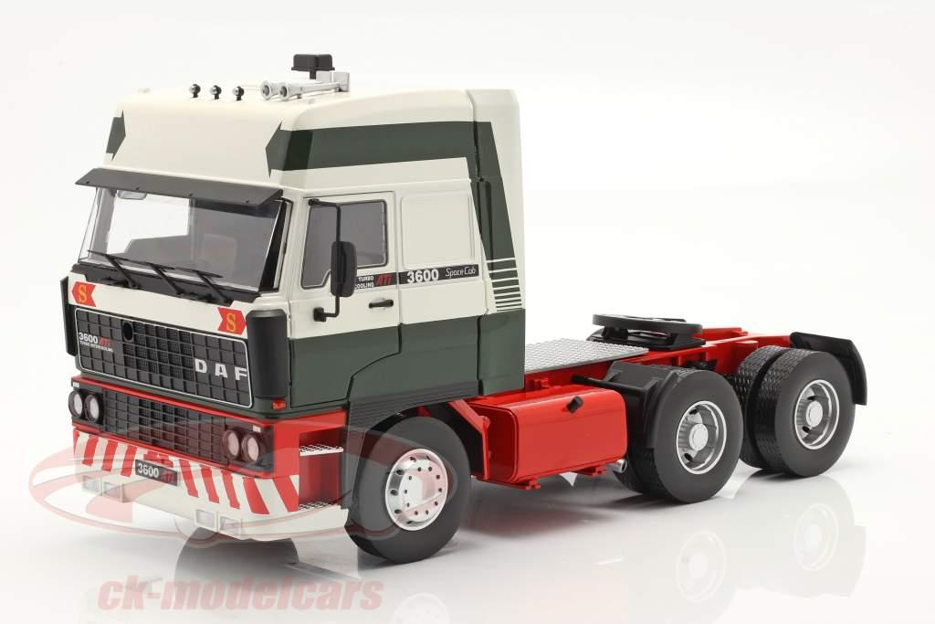 DAF 3600 SpaceCab Camion Anno di costruzione 1986 verde scuro / bianca / rosso 1:18 Road Kings
