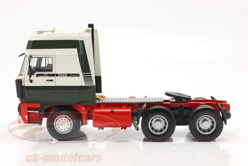 DAF 3600 SpaceCab un camion Année de construction 1986 vert foncé / blanc / rouge 1:18 Road Kings