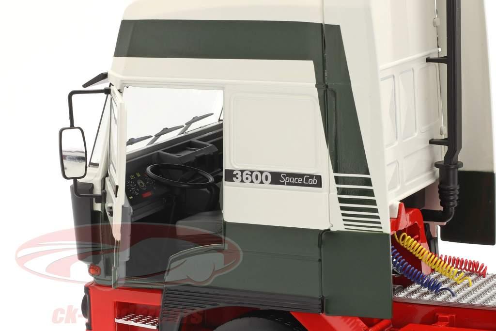 DAF 3600 SpaceCab Vrachtwagen Bouwjaar 1986 donkergroen / Wit / rood 1:18 Road Kings