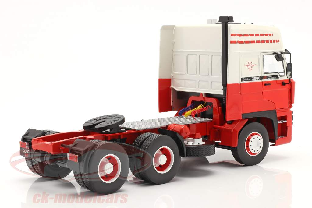 DAF 3600 SpaceCab un camion 1986 blanc / rouge 1:18 Road Kings