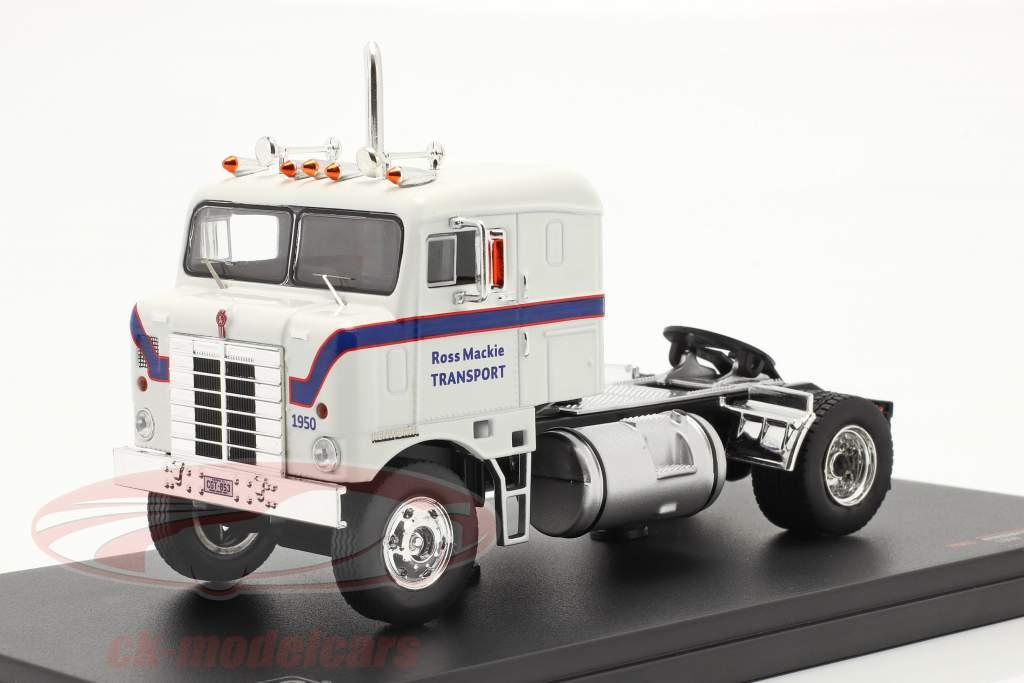 Kenworth Bullnose Truck year 1950 white / blue 1:43 Ixo