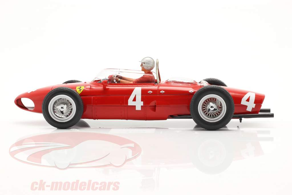 Seated Racer figure with red shirt 1:18 FigurenManufaktur