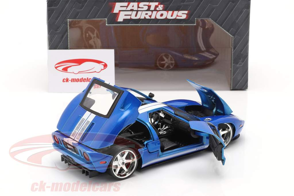 Ford GT 映画 Fast and Furious 7 2015 青い / 白い 1:24 Jada Toys