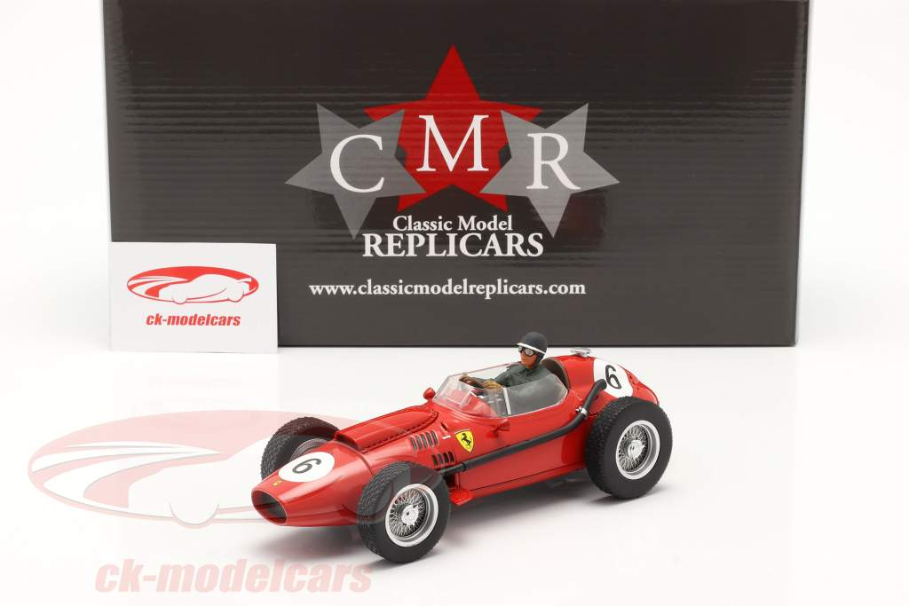 Set: Ferrari Dino 246 #6 World Champion F1 1958 with driver figure 1:18 CMR