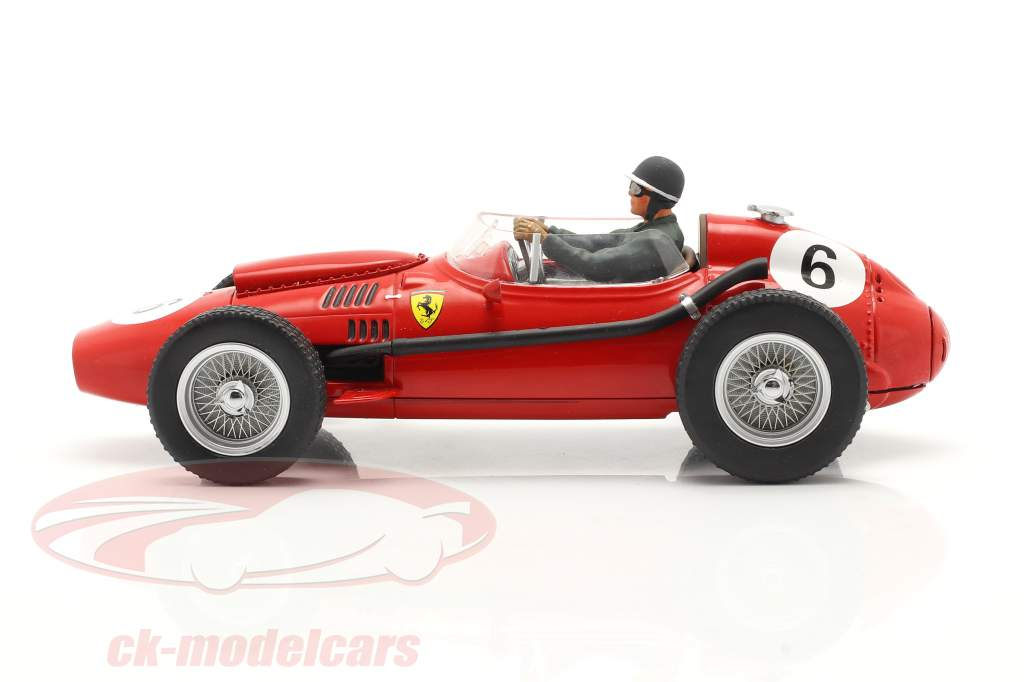 Set: Ferrari Dino 246 #6 Campeón mundial F1 1958 Con conductor figura 1:18 CMR