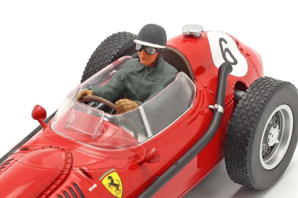 Set: Ferrari Dino 246 #6 Verdensmester F1 1958 Med chauffør figur 1:18 CMR