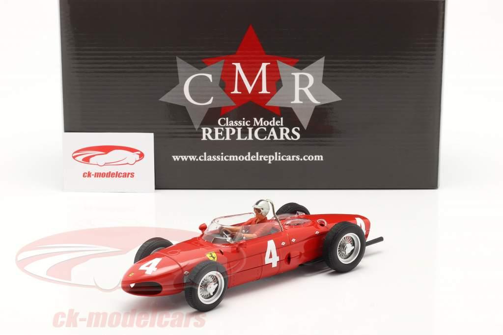 Set: Ferrari 156 Sharknose #4 gagnant Britanique GP 1961 avec chauffeur figure 1:18 CMR