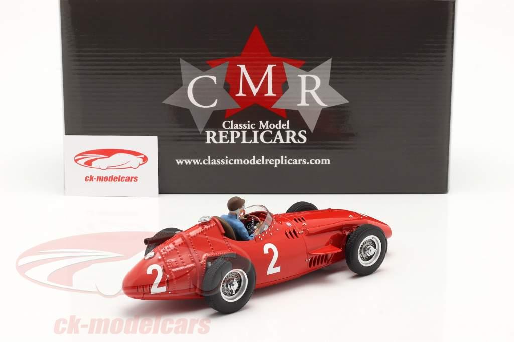 Set: Maserati 250F #2 fransk GP Verdensmester F1 1957 Med Driverfigur 1:18 CMR
