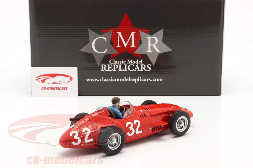 Set: Maserati 250F #32 Monaco GP Weltmeister F1 1957 mit Fahrerfigur 1:18 CMR