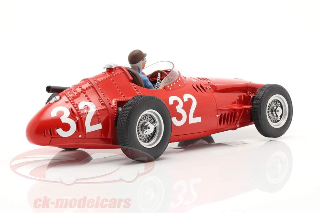 Set: Maserati 250F #32 Monaco GP Verdensmester F1 1957 Med Driverfigur 1:18 CMR