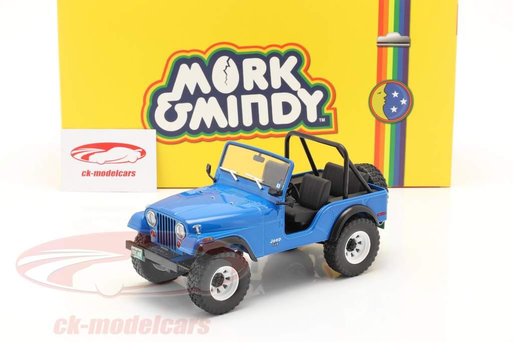 Jeep CJ-5 1972 TV serier Mork & Mindy (1978-82) blå 1:18 Greenlight