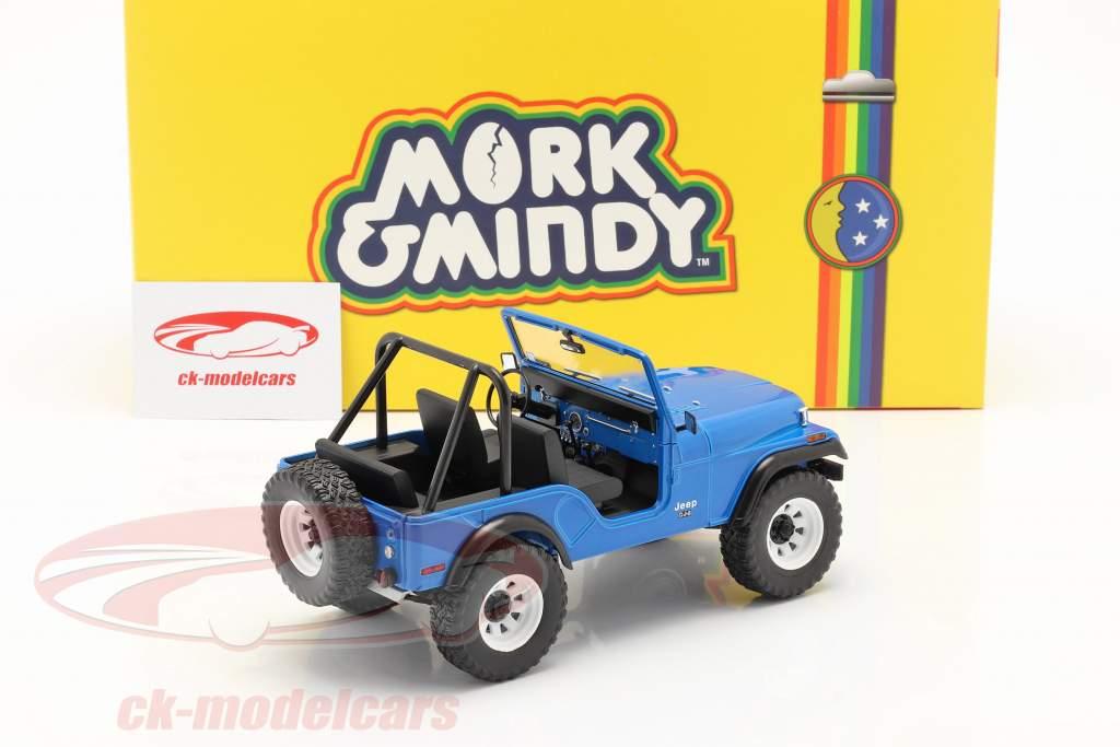 Jeep CJ-5 1972 TV-Serie Mork & Mindy (1978-82) blau 1:18 Greenlight