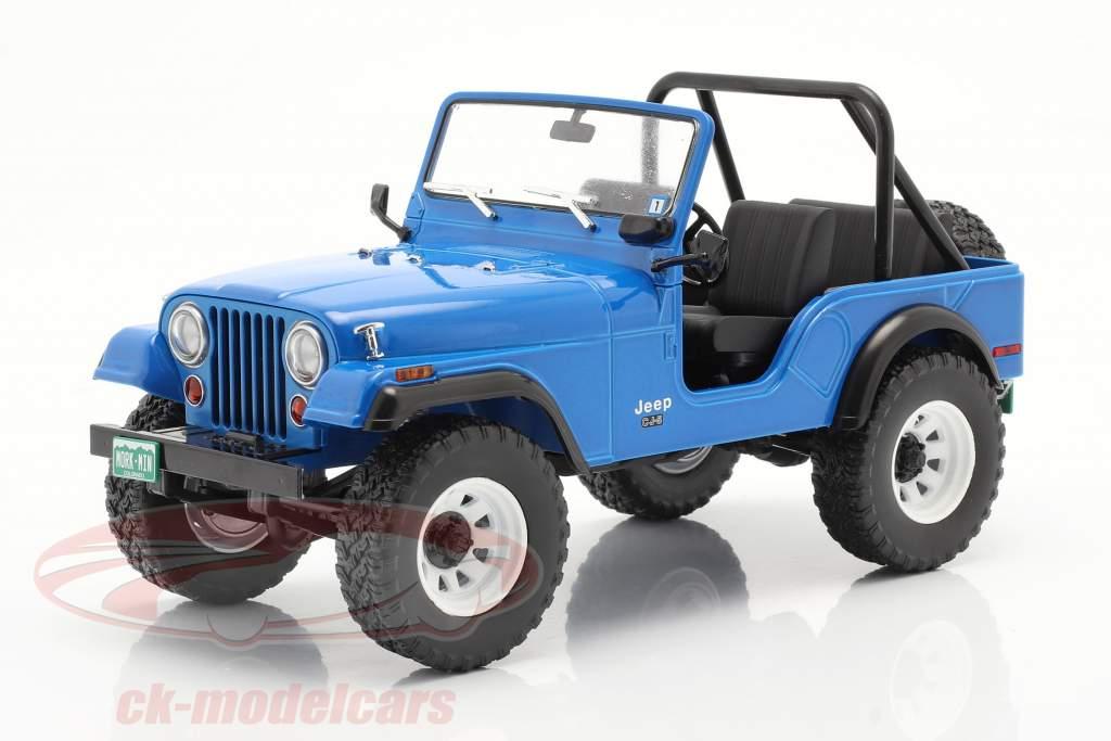 Jeep CJ-5 1972 Series de Televisión Mork & Mindy (1978-82) azul 1:18 Greenlight