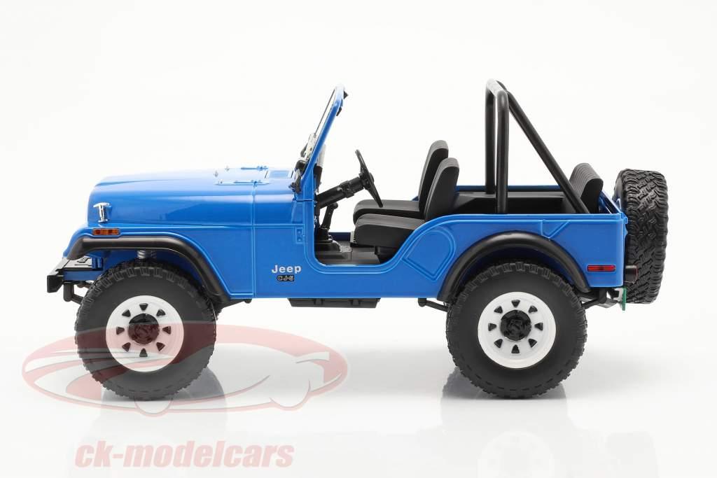 Jeep CJ-5 1972 séries télévisées Mork & Mindy (1978-82) bleu 1:18 Greenlight